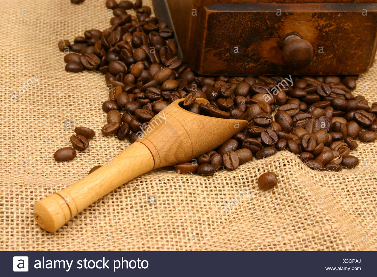 coffee,coffee beans,coffee grinder - Stock Image