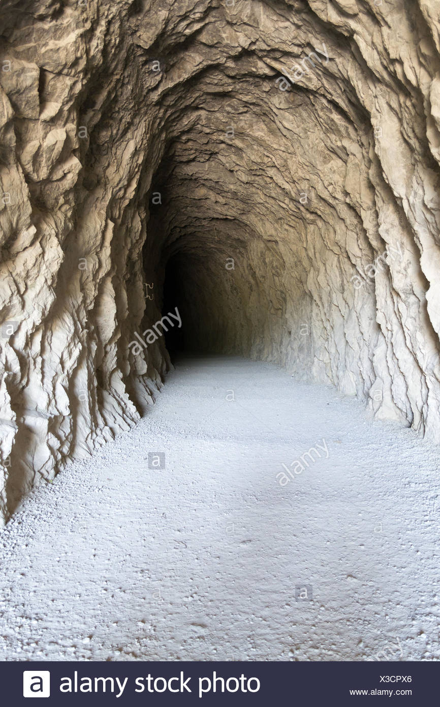 Tunel to the darkness - Stock Image