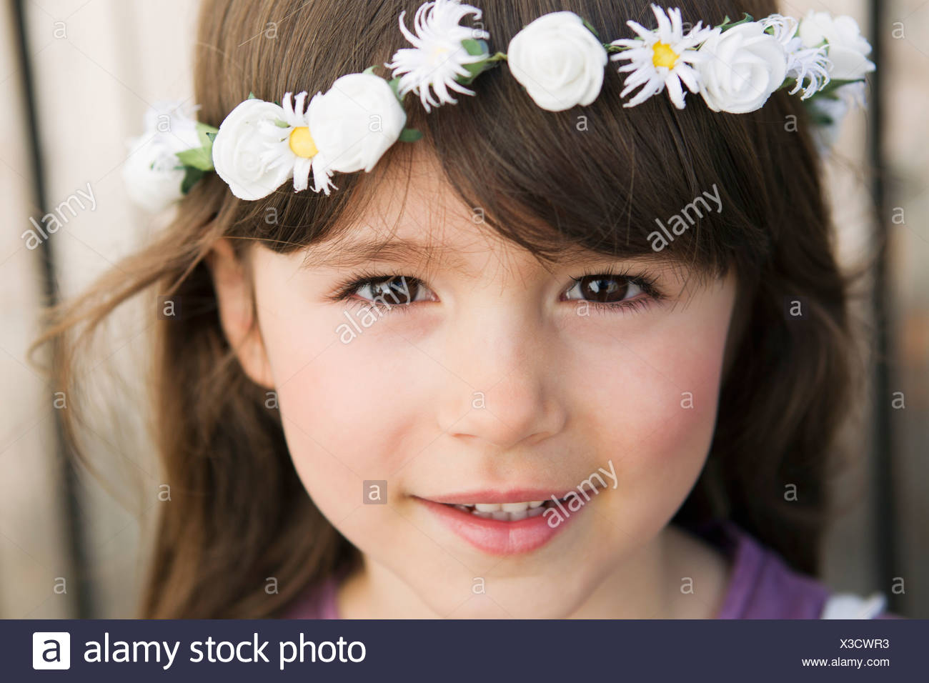 9bdd03b65d Flower Crown Girl Stock Photos   Flower Crown Girl Stock Images - Alamy