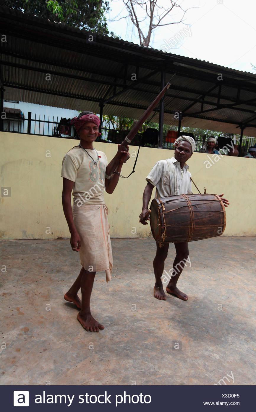 Praja Dance, Bison Horn Maria Tribe, Dantewada, Chattisgarh, India Stock Photo