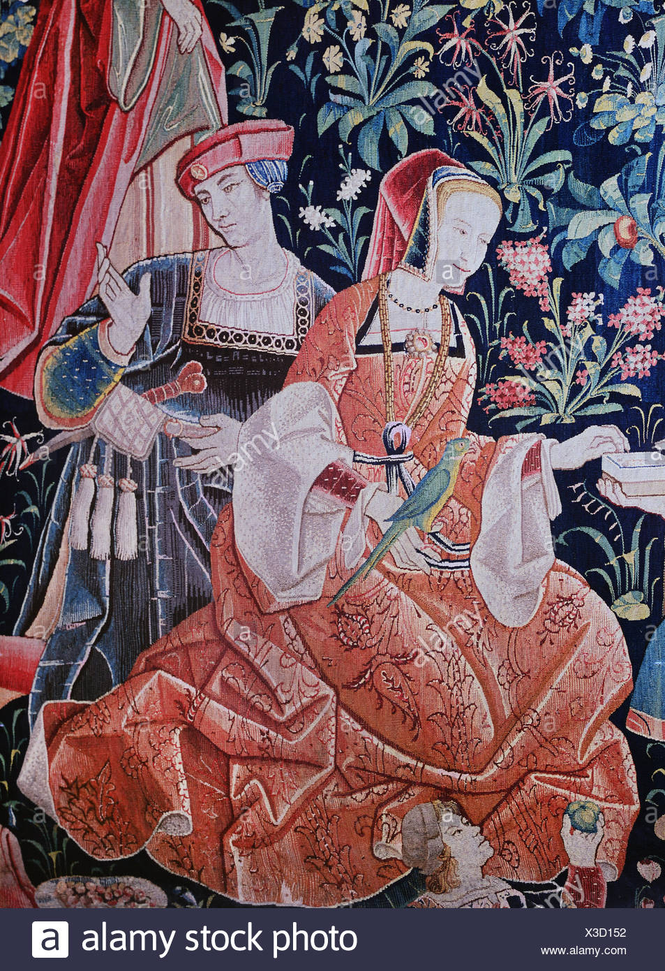 Scenes Galantes French 15th Century Needlepoint Canvas