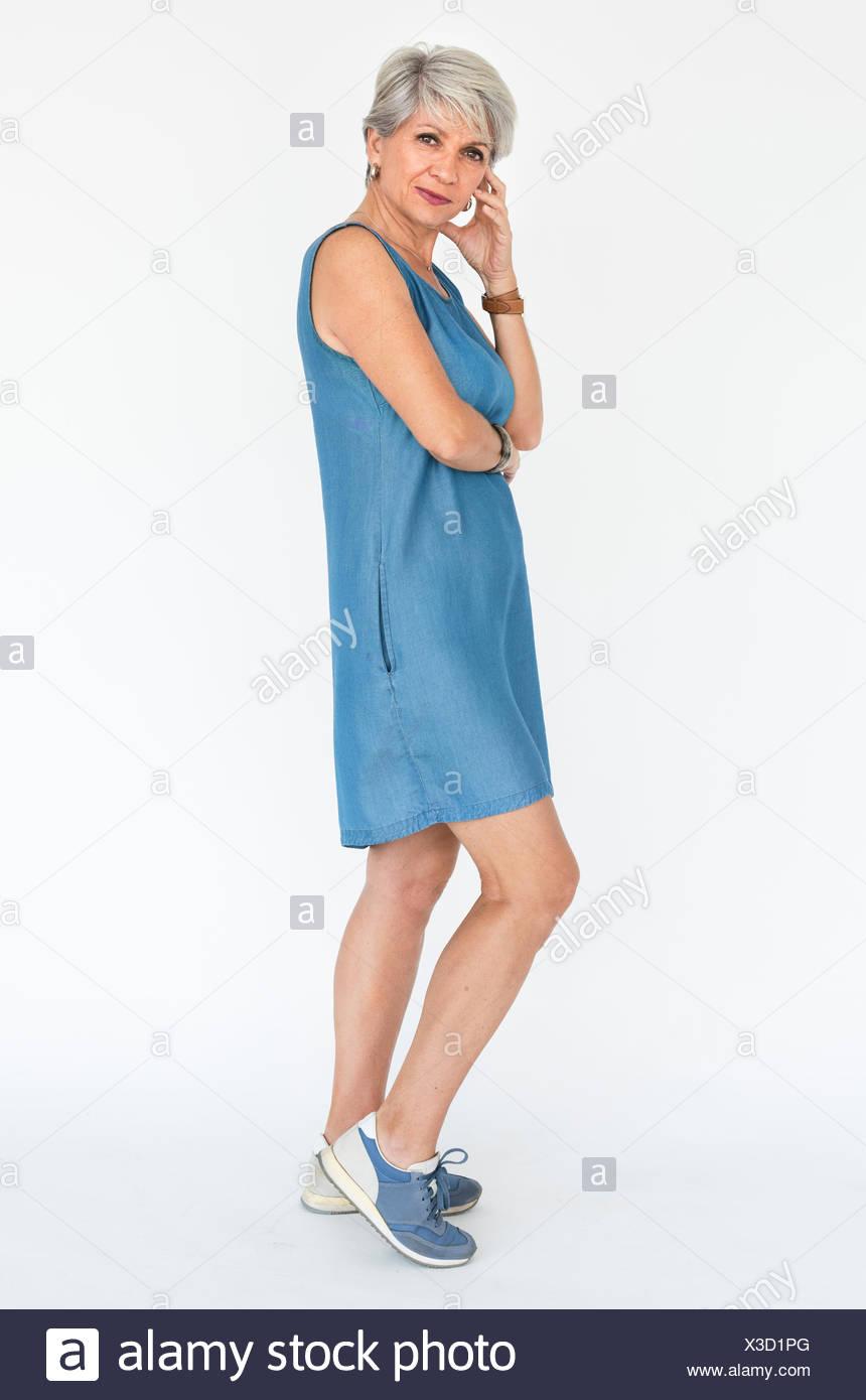 Woman Confidence Self Esteem Boldness Concept - Stock Image