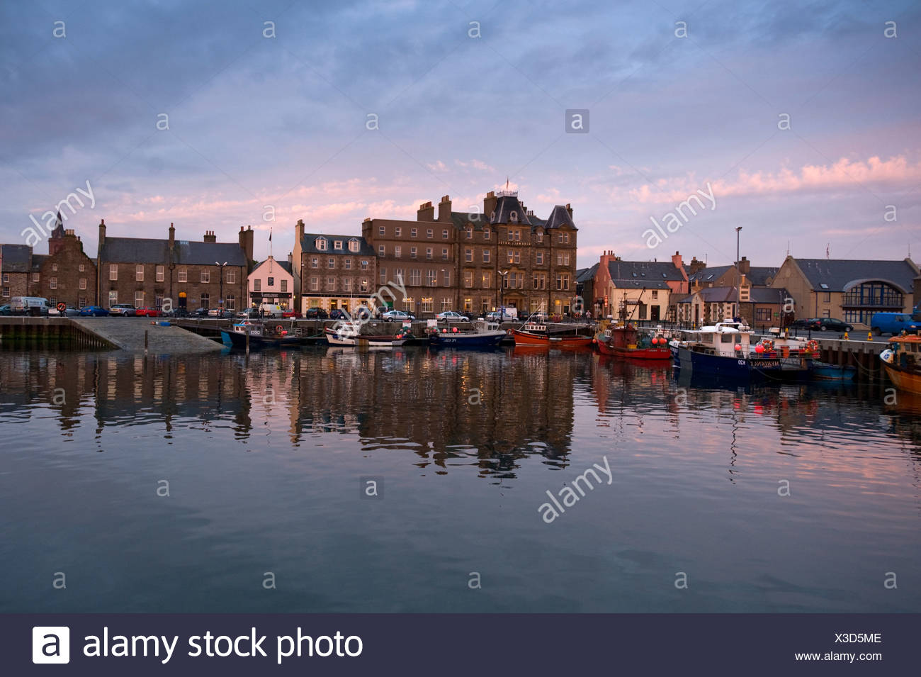 Harbor and waterfront, Kirkwall, Orkney Islands, Scotland, United Kingdom, Europe - Stock Image