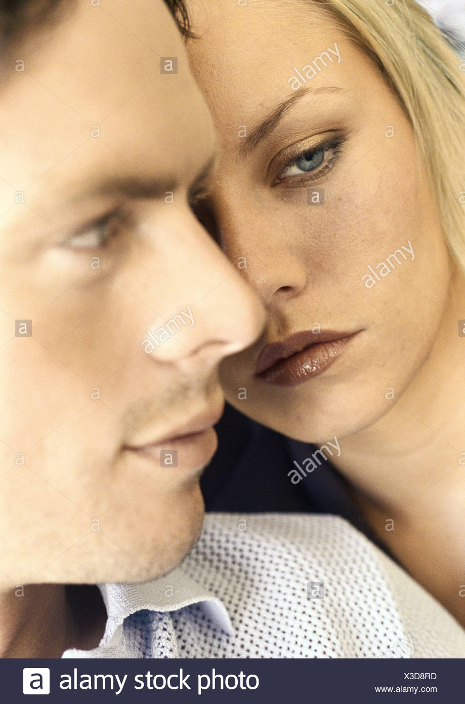 Young couple, close-up - Stock Image