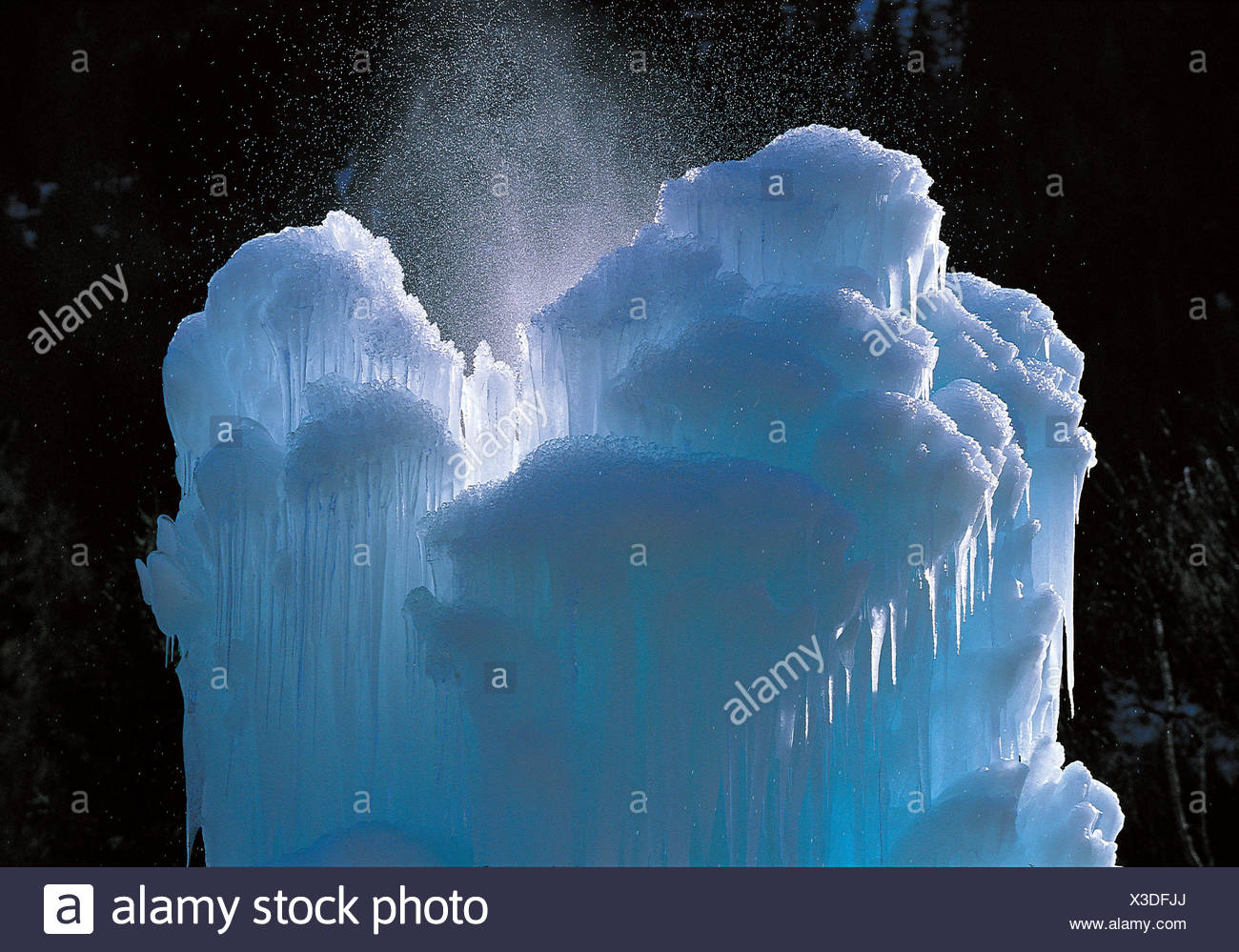 Icicles, ice things - Stock Image