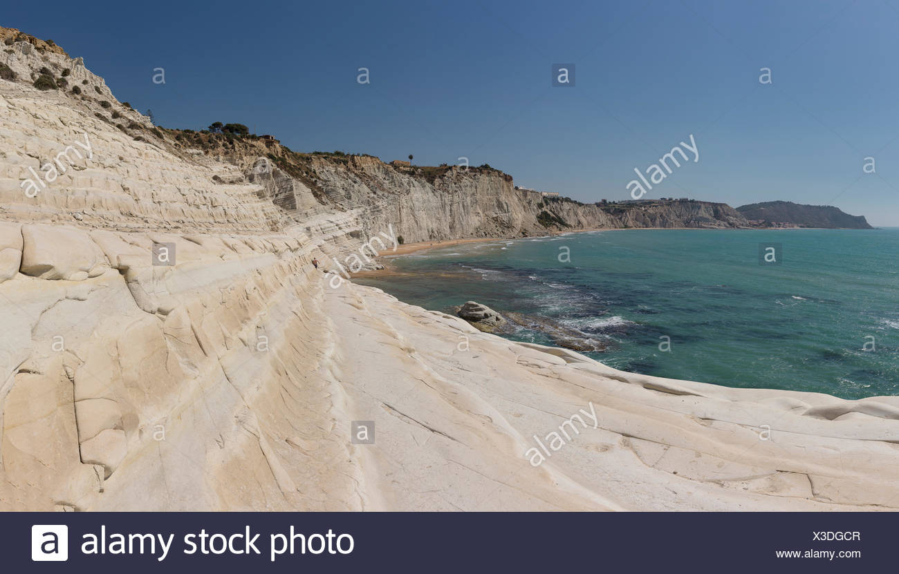 Scala dei Turchi,Stairs of the Turks - Stock Image