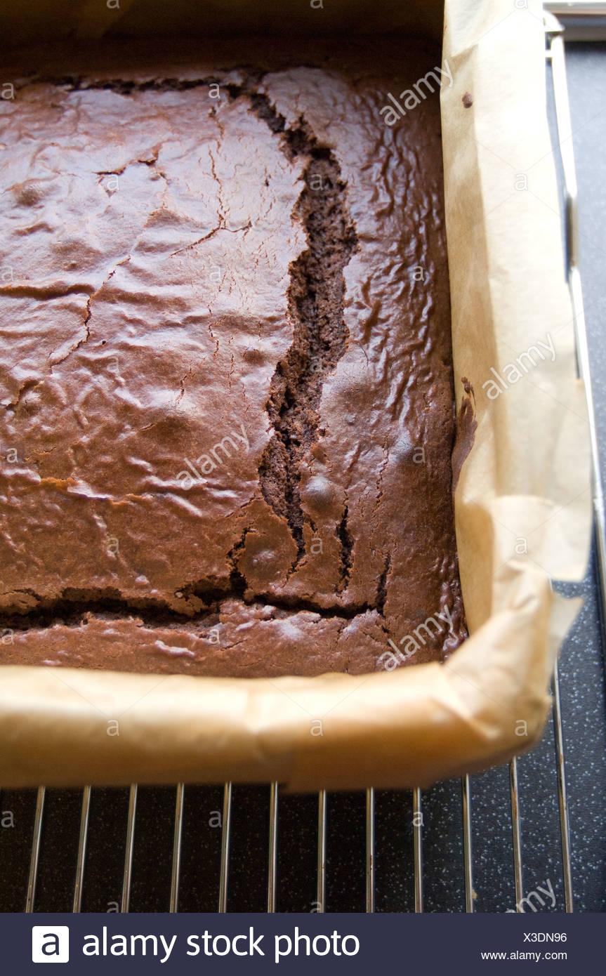 Chocolate  brownie cake - Stock Image