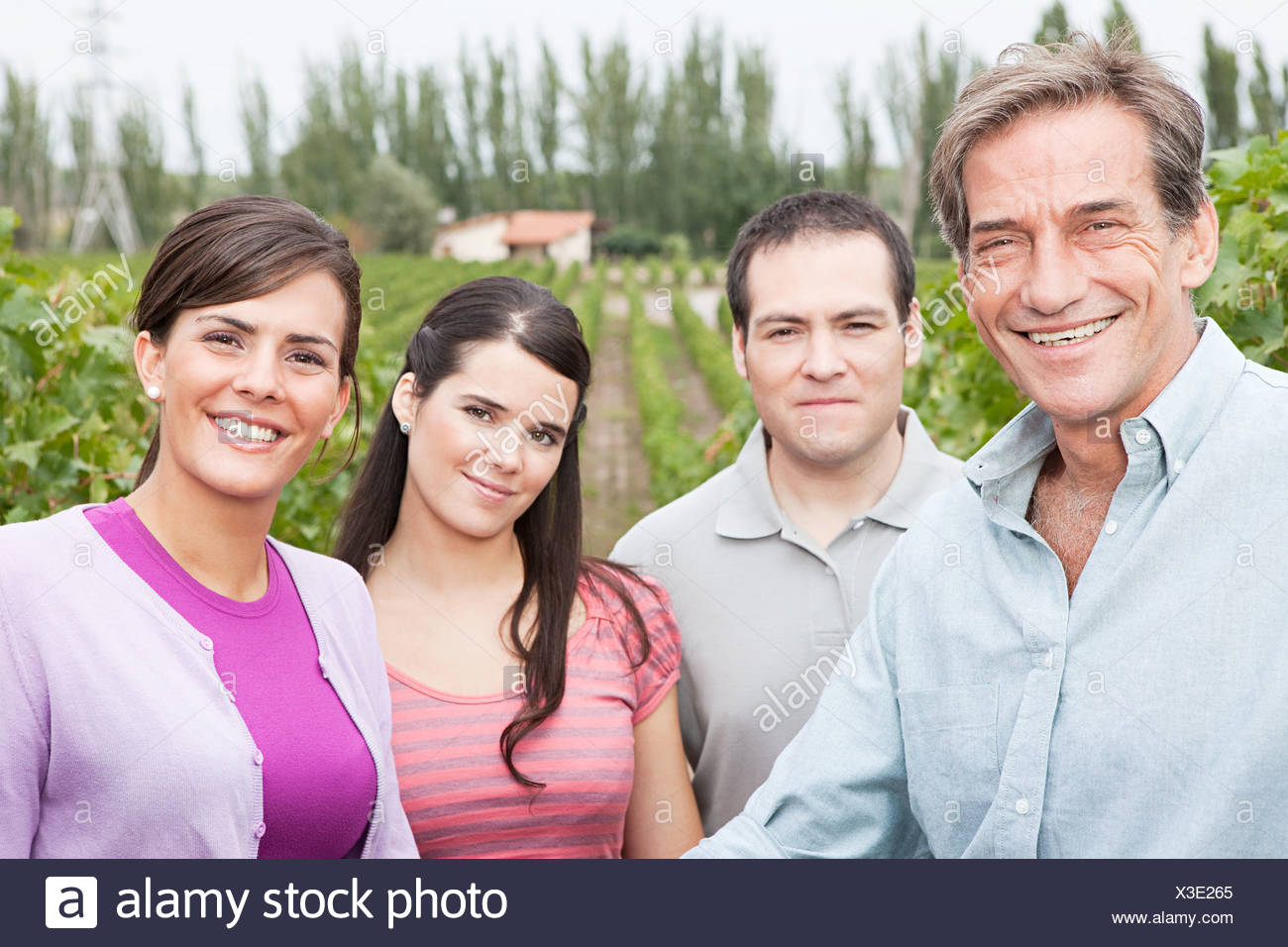 People in a vineyard - Stock Image