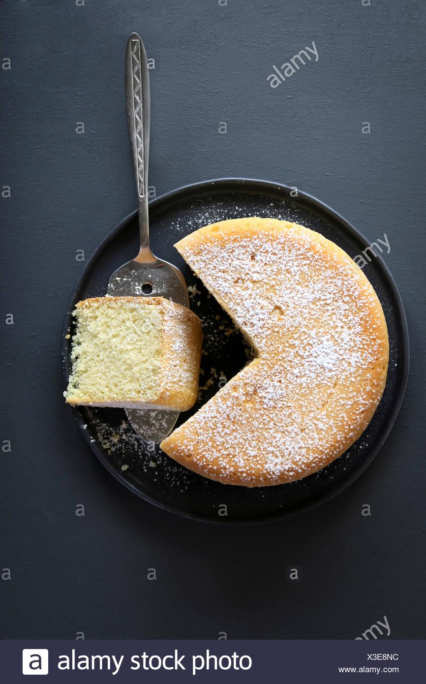 Freshly baked sponge cake - Stock Image