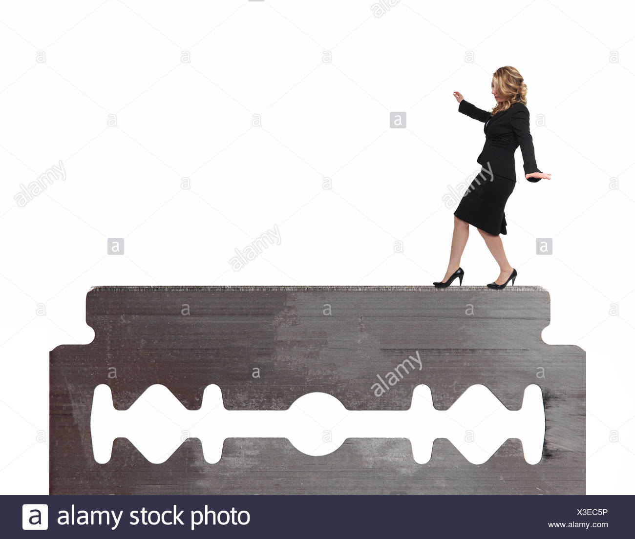 woman on blade - Stock Image