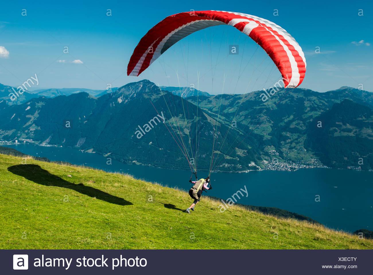 Paraglider Starting Stock Photos & Paraglider Starting Stock Images