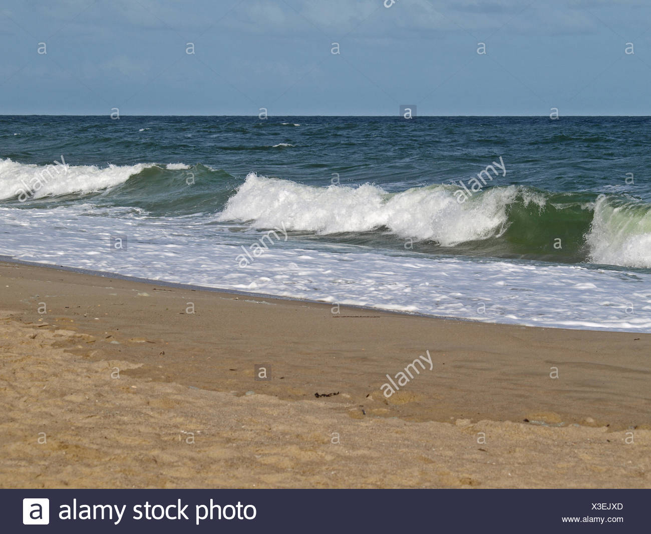 Spume - North Sea, Germany Stock Photo