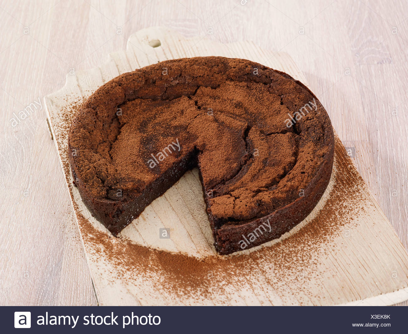 Baked chocolate mousse - Stock Image