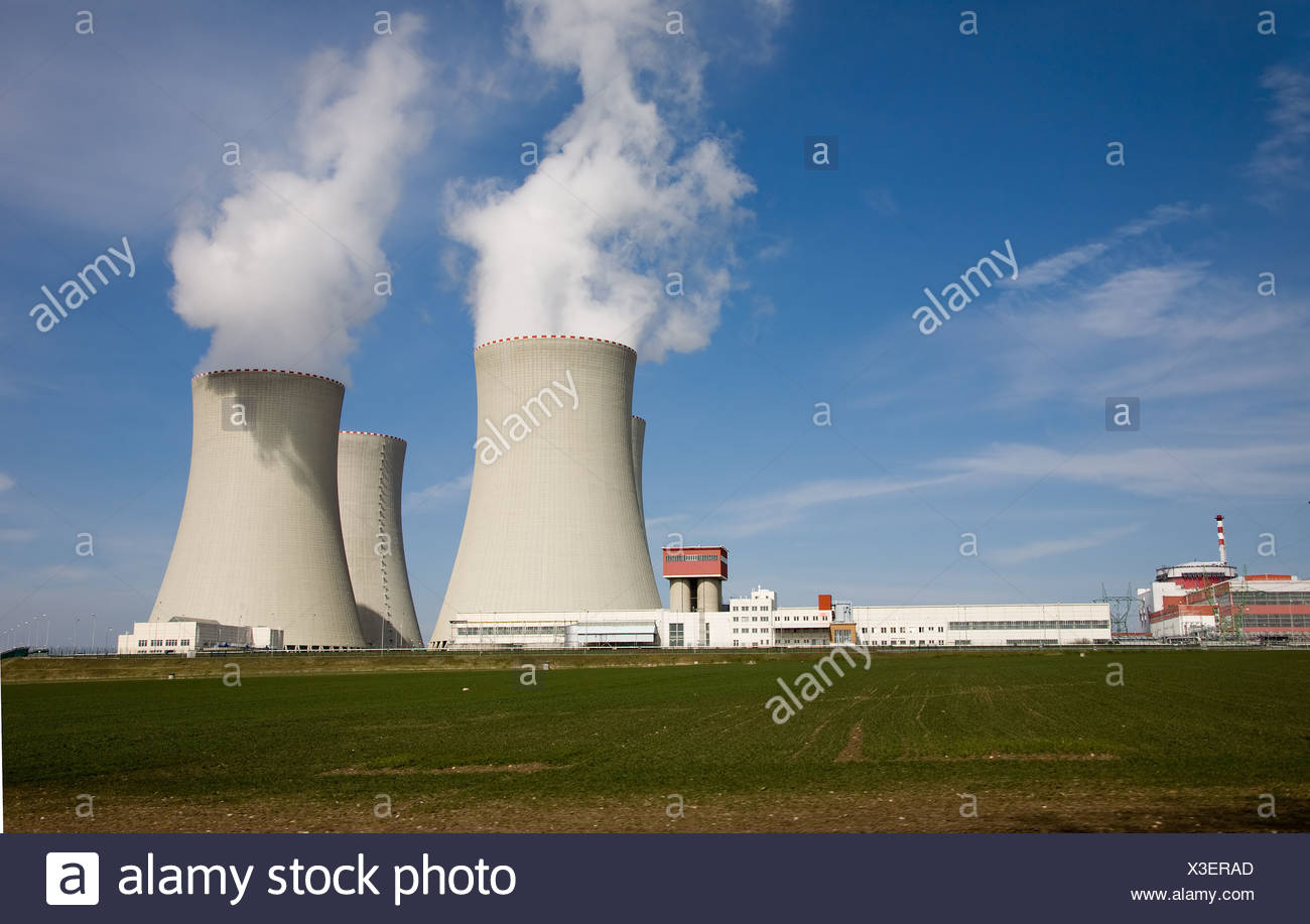 Czech Republic, Temelin nuclear power plant - Stock Image