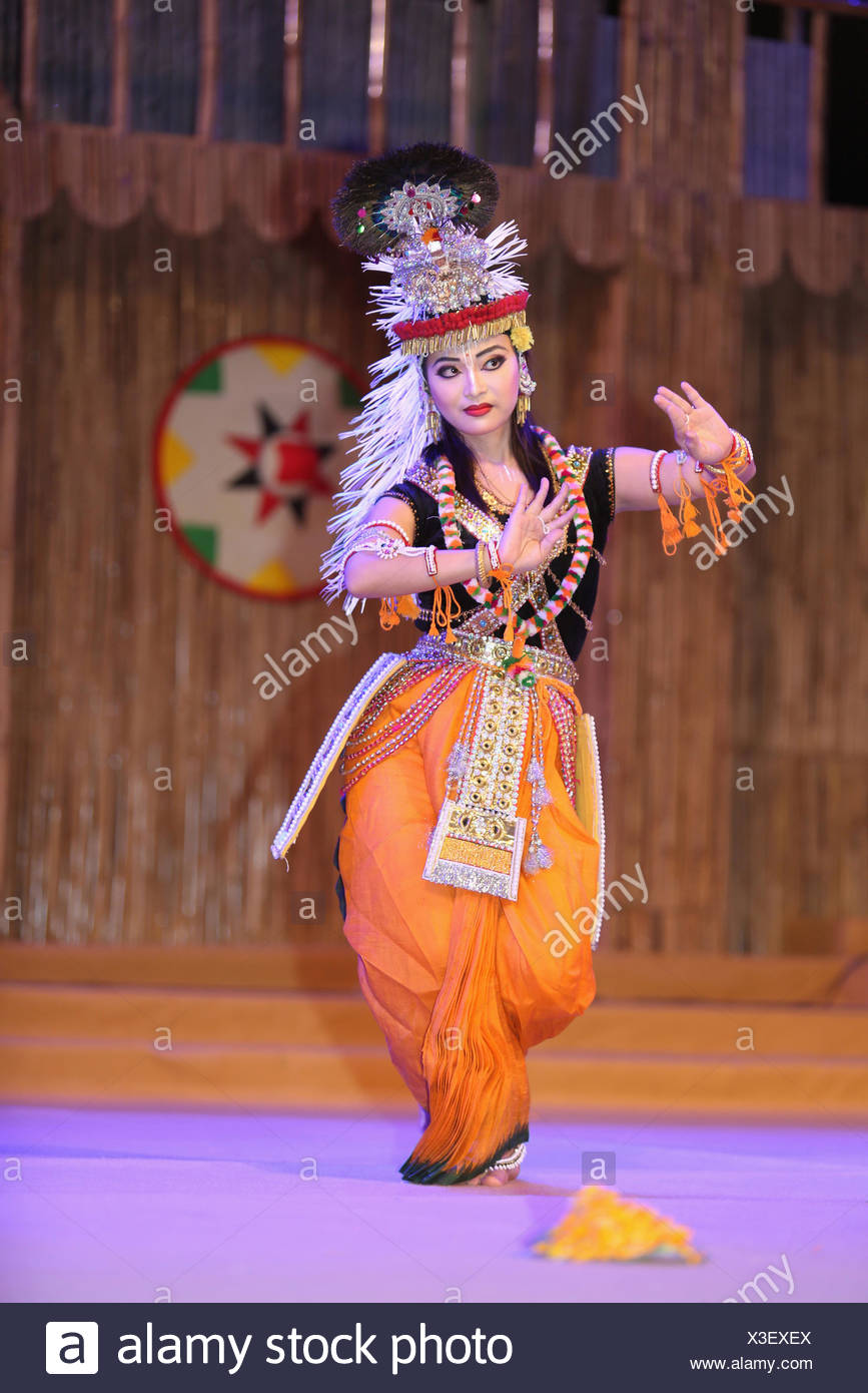 India During A Tribal Dance Festival Stock Photos & India During A