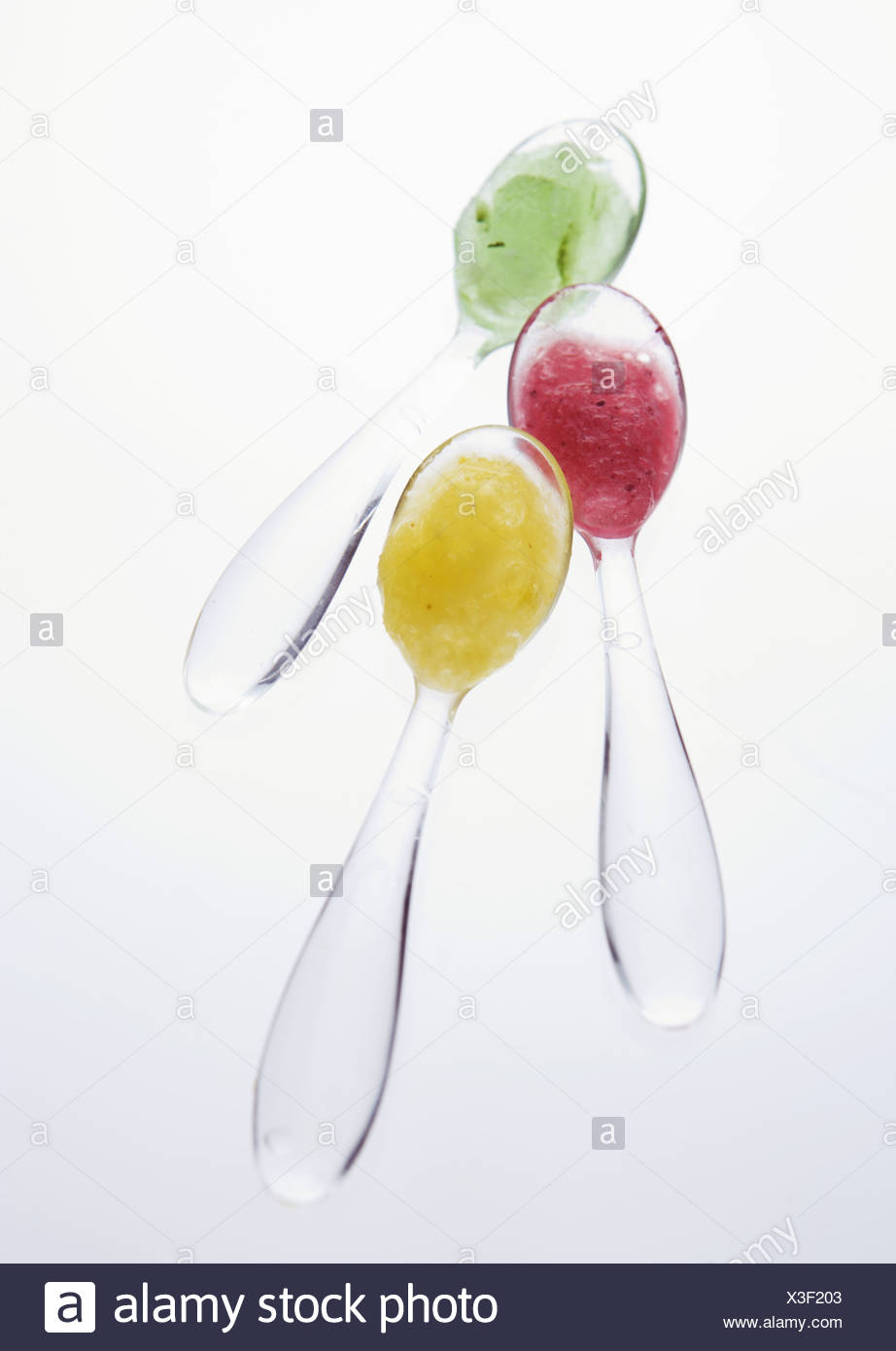 Spoonfuls of sherbets - Stock Image