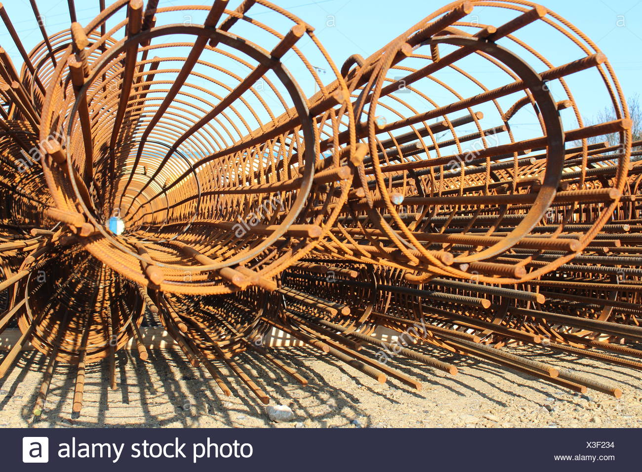 Core wire for concrete - Stock Image