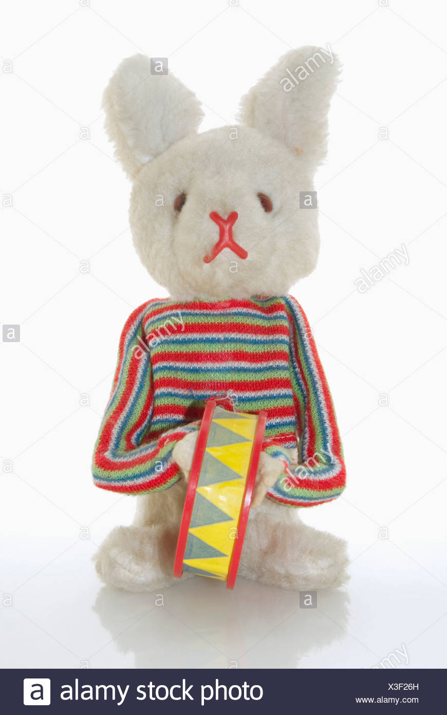 Toy bunny, close-up - Stock Image