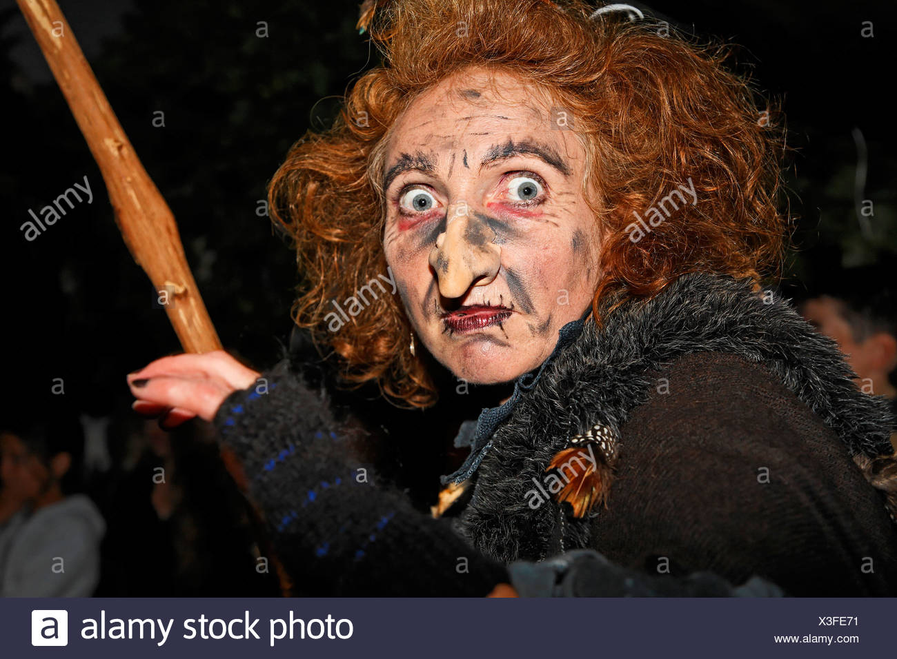 Witch in Bavarian Forest, Lower Bavaria, Germany - Stock Image