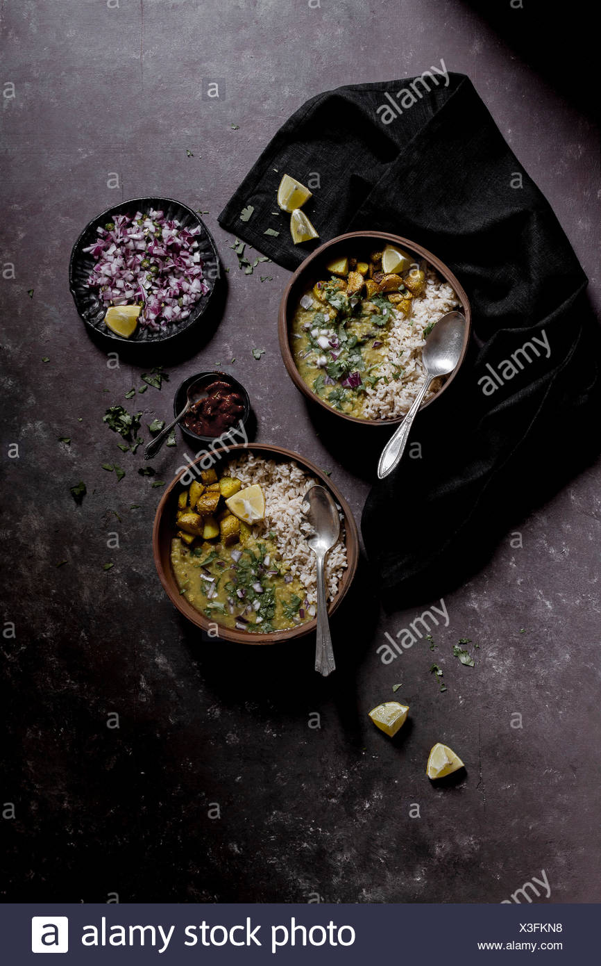 Dal and Rice - Indian Comfort Food - Stock Image