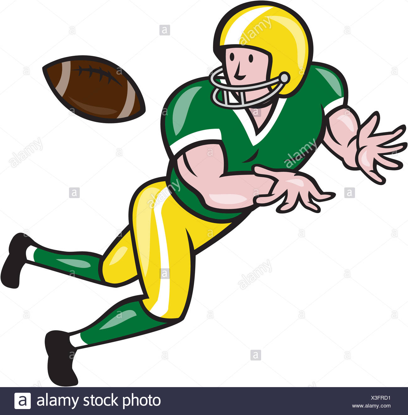 Illustration Of An American Football Gridiron Wide Receiver