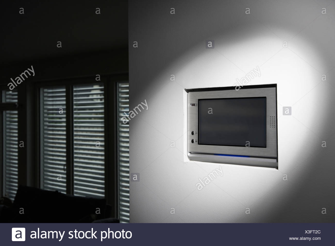 Germany, Cologne, Tele control for roller blinds - Stock Image