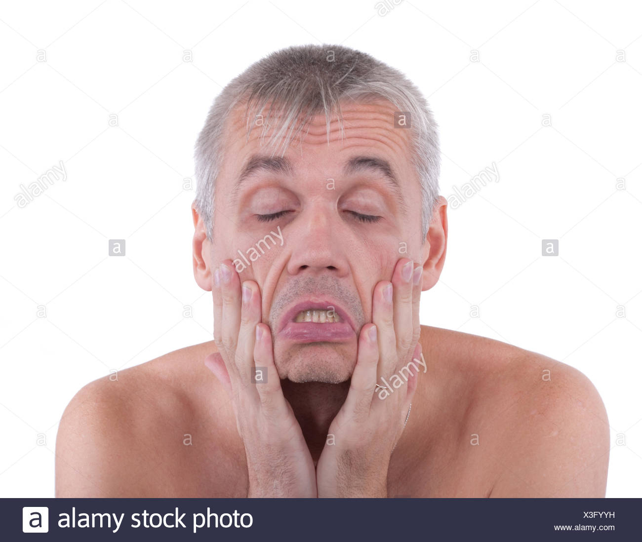 Dissatisfied man - Stock Image
