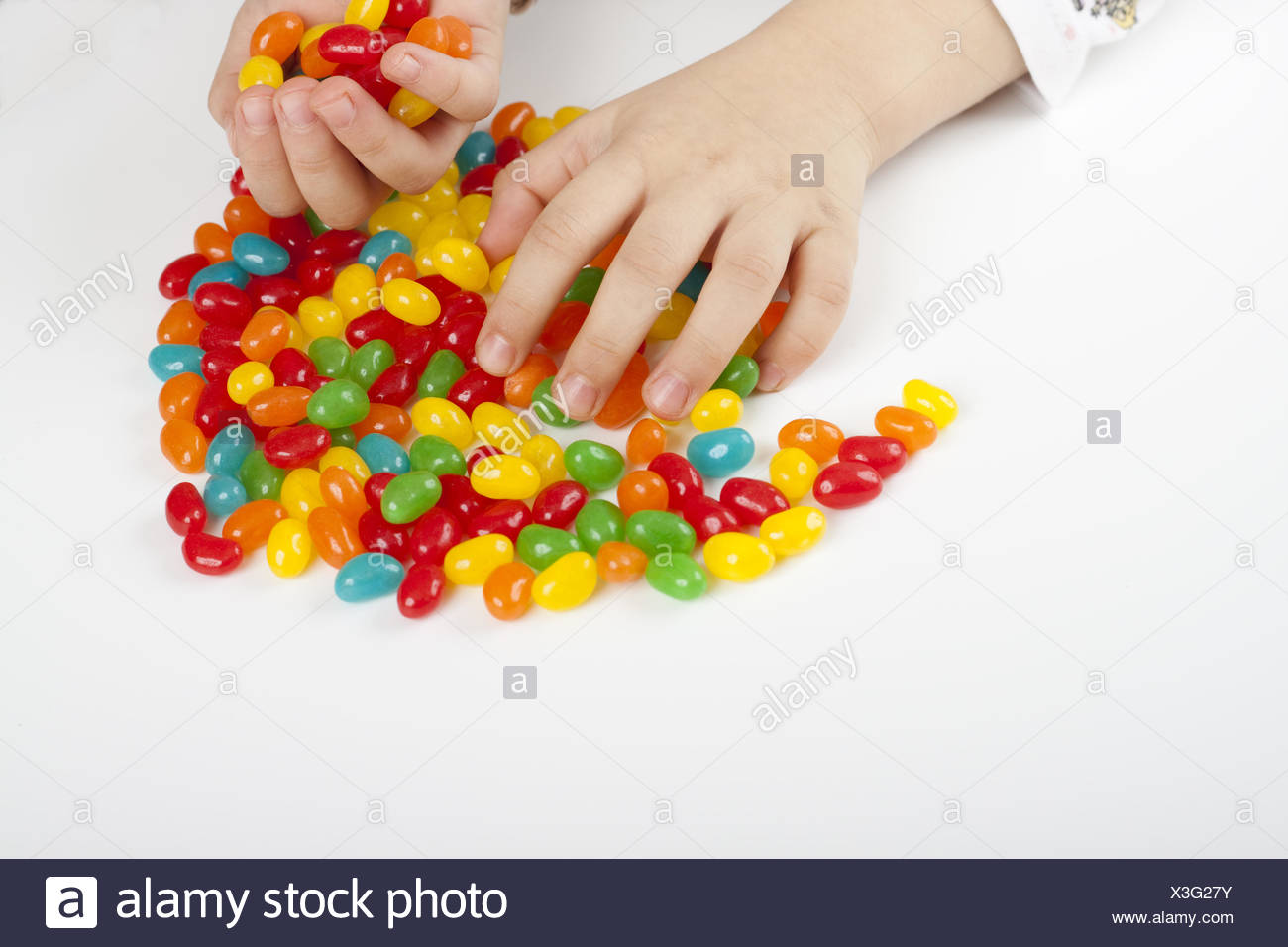 grabing candy Stock Photo