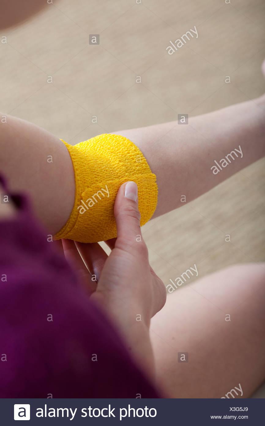 ARM BANDAGE - Stock Image