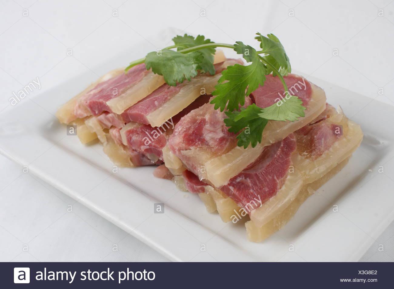 salted pork in jelly Stock Photo: 277567754 - Alamy