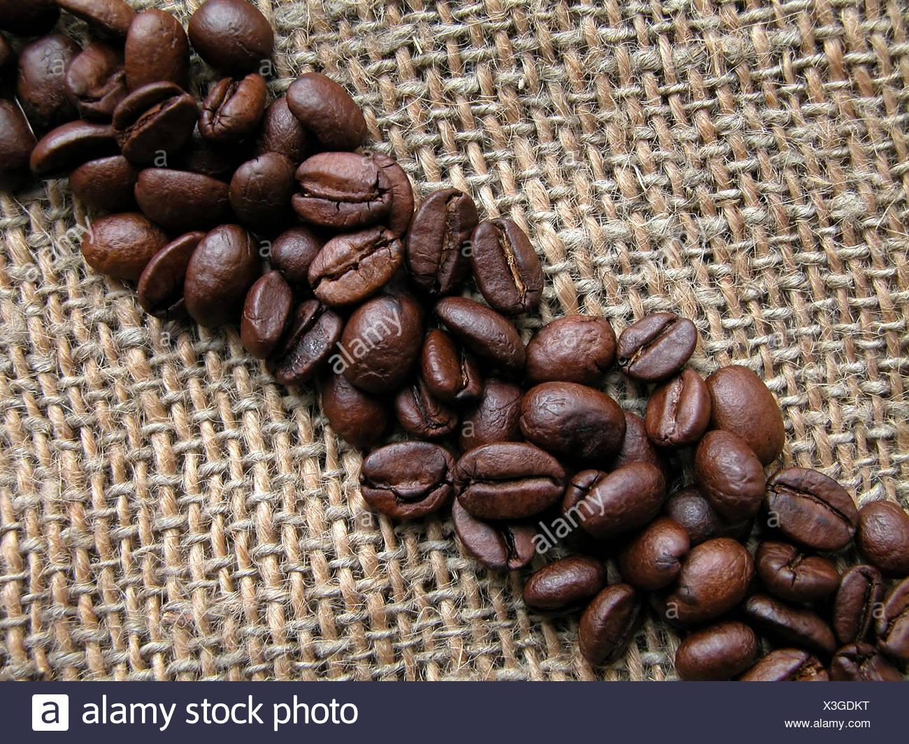 coffee bean,diagonal Stock Photo