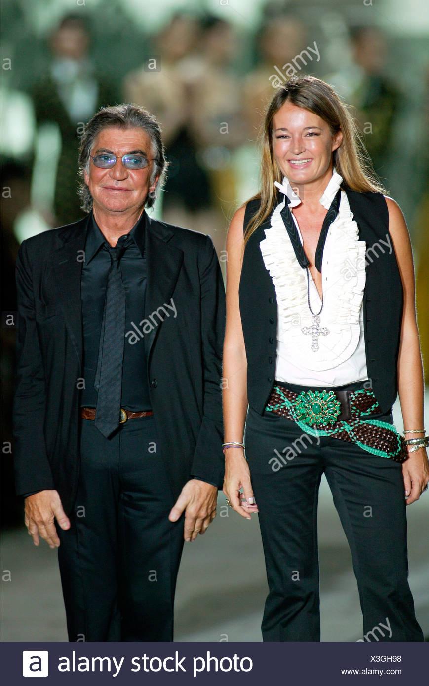 2661568b1 Roberto Cavalli Milan Ready to Wear Spring Summer Fashion design couple Roberto  Cavalli and wife, Eva Cavalli