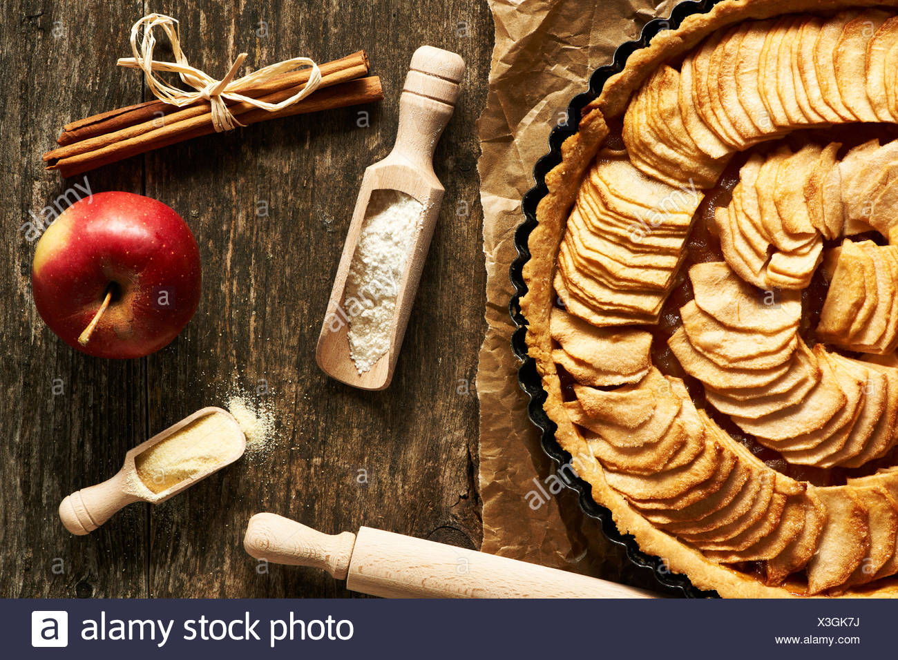 French apple pie - Stock Image