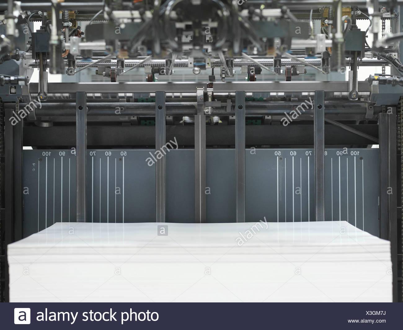 Paper In Printer Stock Image Printer