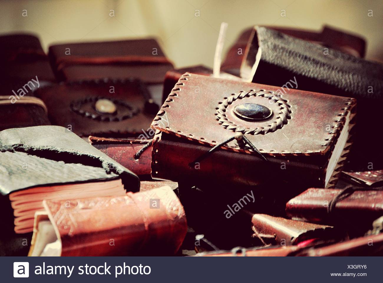 Detail Of Leather Purses - Stock Image