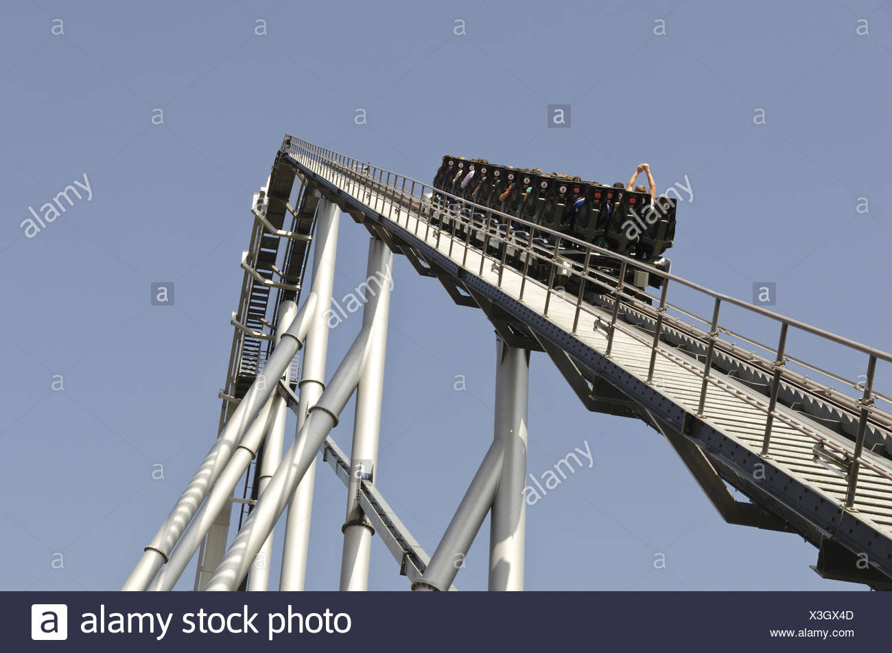 Silver Star Rollercoaster - Stock Image