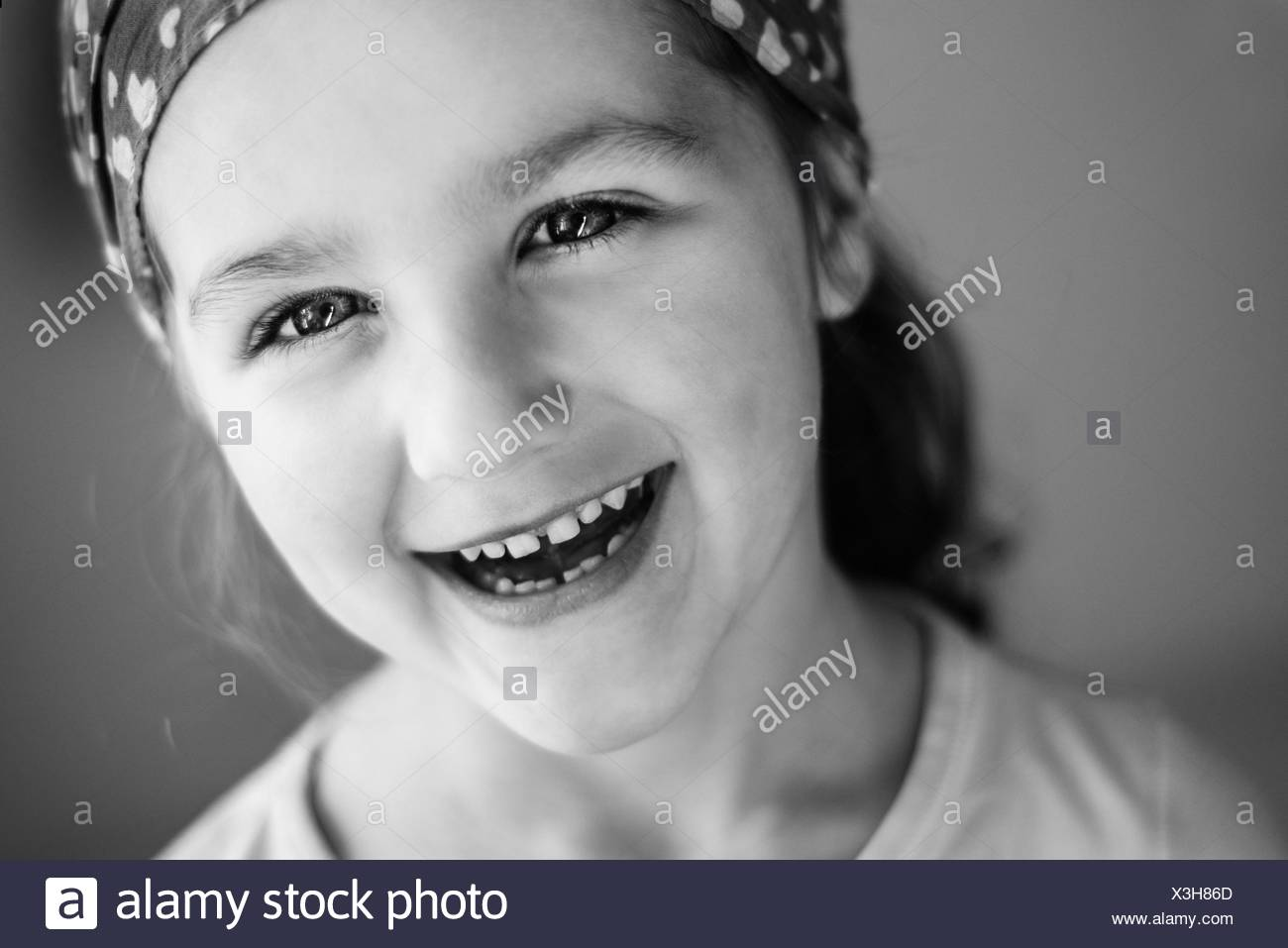 Portrait of smiling girl (4-5) - Stock Image