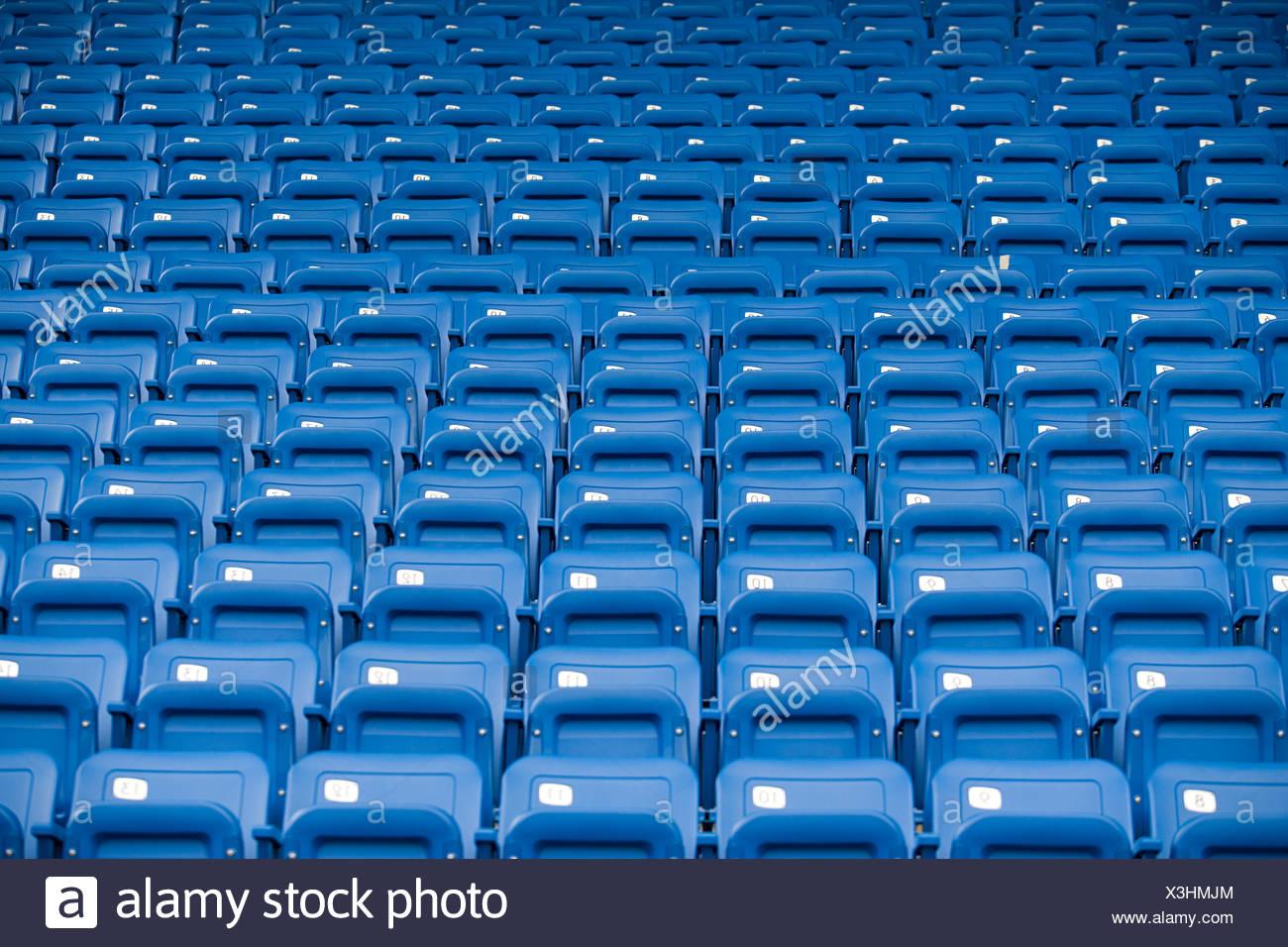 Stadium seats - Stock Image