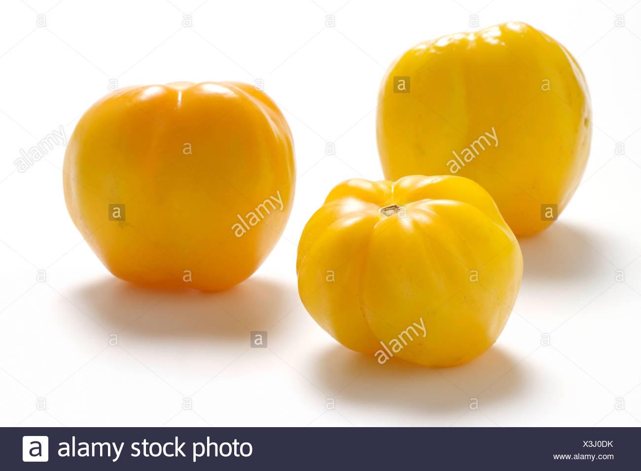 Tomato varieties: Yellow Stuffer - Stock Image