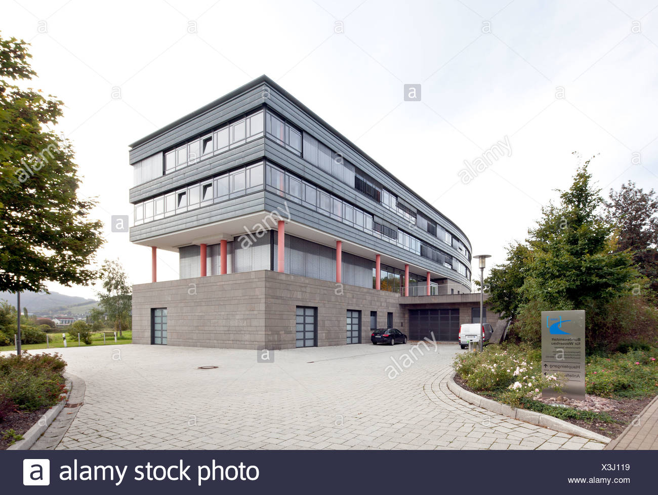 Federal Institute for Hydraulic Engineering, Ilmenau, Thuringia, Germany, Europe, PublicGround - Stock Image