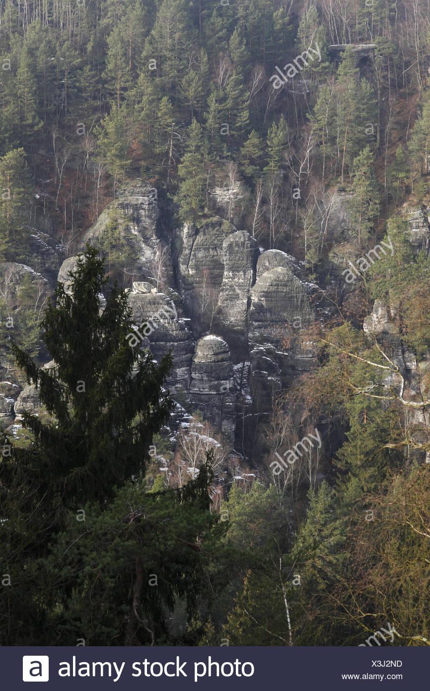 Elbsandsteingebirge - Stock Image