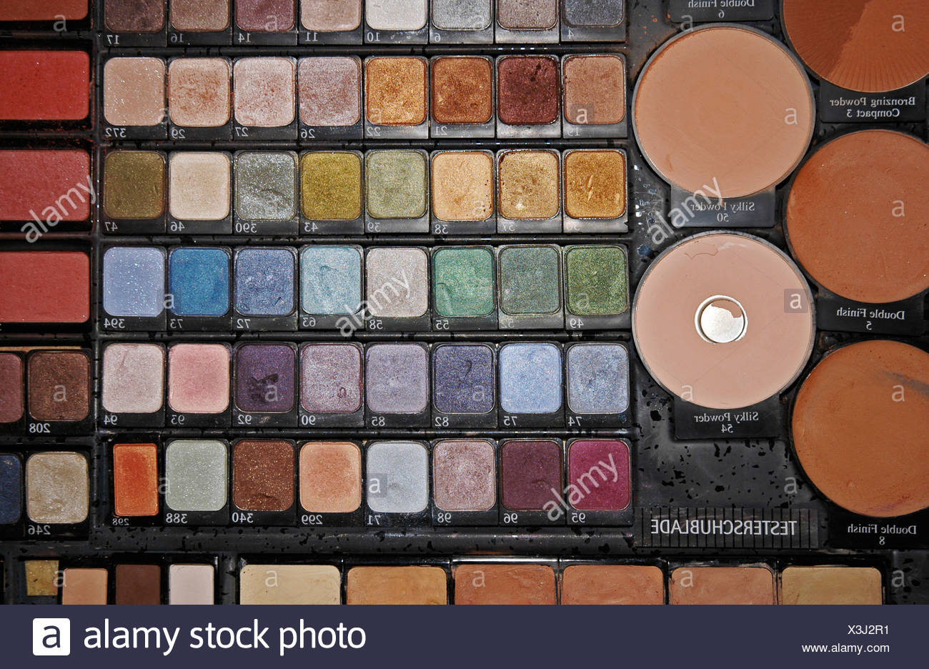 Tester drawer, makeup, make-up, powder, eye shadow, utensils, Makeup, cosmetics, beauty, beauty care