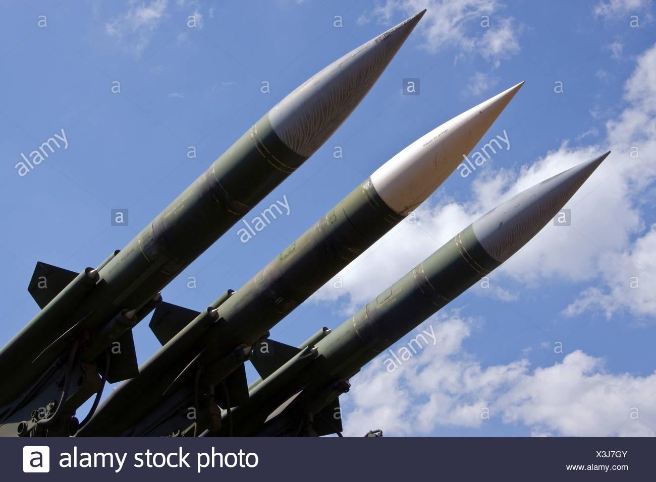 Soviet anti-aircraft missile 3M9 - Stock Image