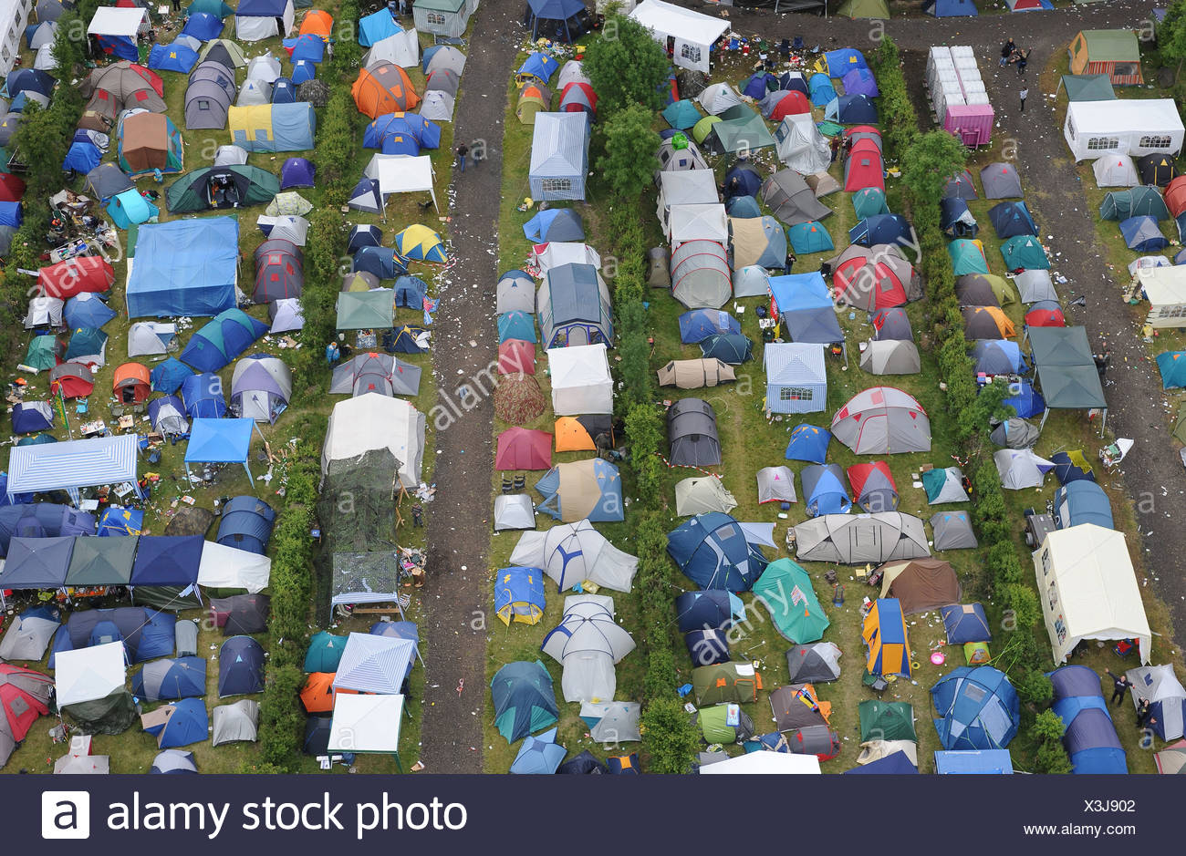 Nuerburg Germany Campground At Rock Am Ring Festival Stock