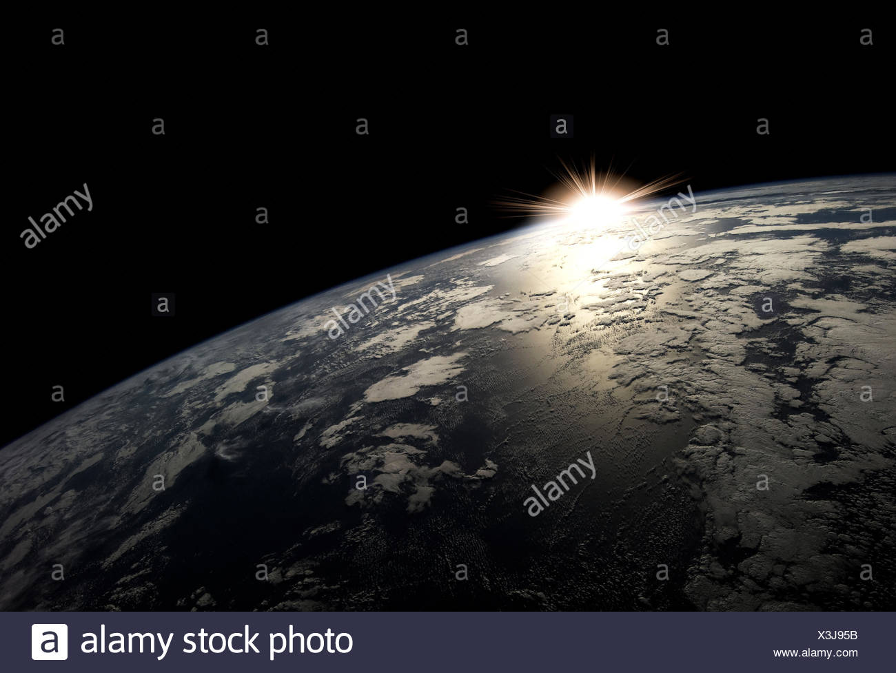Earth from space - Stock Image