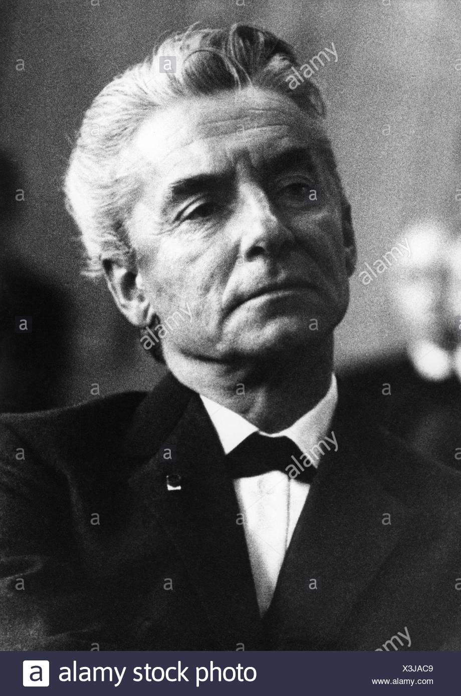 Karajan, Herbert von, 5.4.1908 - 16.7.1989, Austrian conductor, portrait, 1970s, , Stock Photo