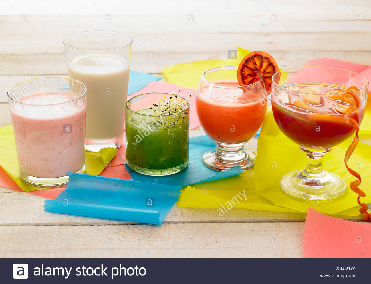 Selection of drinks - Stock Image