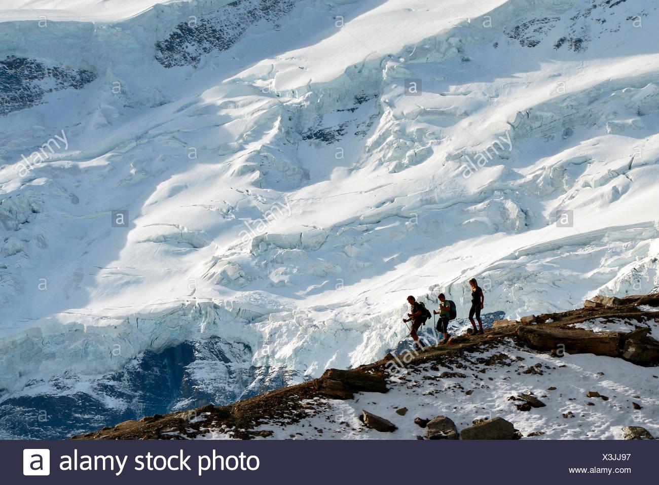 Trekking around Grand Combin, close to Panossiere refuge, Switzerland, Europe - Stock Image