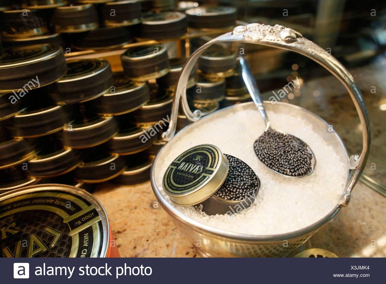Russian caviar. Saint Petersburg. Russia. - Stock Image