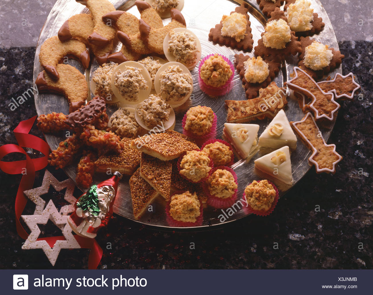German Christmas Cookies.Tableau Christmas Cookies Several Kinds Of German